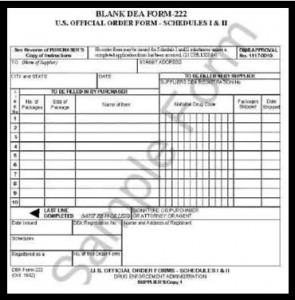 DEA Form 222 Sample